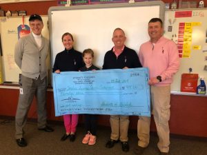 David and Libby Symmes got the chance to receive the check from Holyn and her classmates in-person!